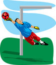 Colored goalkeeper Stock Photography