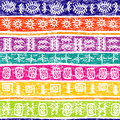 Colored grunge background with ethnic motifs white Royalty Free Stock Image