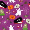 Colored halloween seamless pattern Royalty Free Stock Image