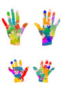 Colored hands Royalty Free Stock Images