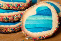 Colored hearth cookies Royalty Free Stock Photo