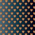 Colored hearts in dark gray gradient background of colorful on Royalty Free Stock Images