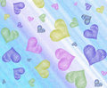 Colored hearts on impasto background Royalty Free Stock Photo