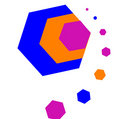 Colored hexagons Stock Images