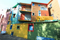 Colored houses of La Boca Royalty Free Stock Photo