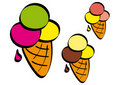Colored ice cream cone Royalty Free Stock Photos