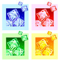 Colored ice cubes Royalty Free Stock Photo