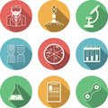 Colored icons for bacteriology Royalty Free Stock Photo