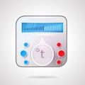 Colored illustration of temperature regulator Royalty Free Stock Photo