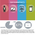 Colored infographic a with some stuff related to business Stock Images