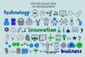 Colored Infographic Techology Elements Set