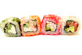 Colored Japanese rolls Royalty Free Stock Photo