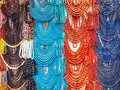 Colored jewelries in a Egyptian shop Royalty Free Stock Photo