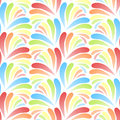 Colored jungle leaves background seamless tile Stock Photos