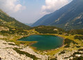 Colored lake in the mountains deep emerald Royalty Free Stock Photography