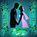 Colored lighting nuptial illustration concept with for wedding day Royalty Free Stock Photography