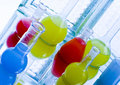 Colored liquids in laboratory Stock Photos