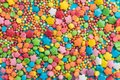 Colored little sprinkles candies background Royalty Free Stock Photo