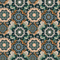 Colored mandala seamless pattern