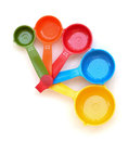 Colored measuring cups Royalty Free Stock Photography