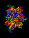 Colored mehndi paisley