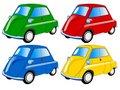 Colored mini cars Royalty Free Stock Photography