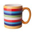 Colored mug isolated on the white background Stock Image