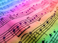 Colored music sheet Royalty Free Stock Photo