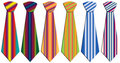 Colored neckties Royalty Free Stock Photo