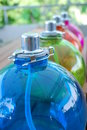Colored Oil Lamps Stock Images