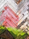 Colored Old Wooden Wall And Sl...