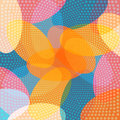 Colored ovals and circles abstract geometric background vector eps Royalty Free Stock Photo