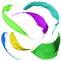 Colored paint splashes collection of on white background Royalty Free Stock Photo
