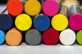 Colored paints macro view of Royalty Free Stock Photo