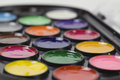 Colored paints. Watercolors Royalty Free Stock Photography