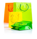 Colored paper bags Stock Images