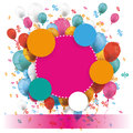 Colored Paper Circles Balloons Percents Banner