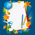 Colored paper and pens Royalty Free Stock Images