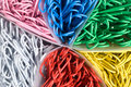 Colored Paperclips Royalty Free Stock Photo