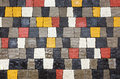 Colored pavement as background close up Stock Image