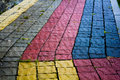 Colored paving slabs Royalty Free Stock Photo