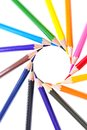 Colored pencil isolated on white background r Royalty Free Stock Photography