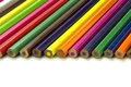 Colored pencil many isolated on the white background Stock Photo
