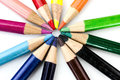 Colored pencil a set of Royalty Free Stock Images