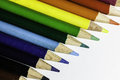 Colored pencil a set of Royalty Free Stock Photos