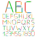Colored Pencils Alphabet Royalty Free Stock Image