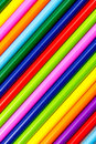 Colored pencils background made from art school Royalty Free Stock Photos