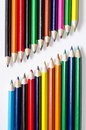 Colored pencils group of multi Stock Photography