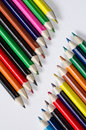 Colored pencils group of multi Stock Images
