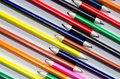 Colored pencils group of multi Royalty Free Stock Image